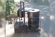 Wood gasifier generator motor
