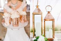 Weddings rose gold & copper