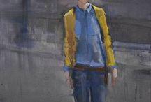 "Saatchi Art Artist Fanny Nushka Moreaux; Painting, ""Back in Paris (SOLD) "" #art"