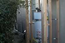 Water heater shed