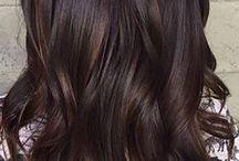 Brunt hår