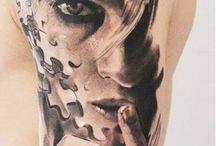 face girl tattoo