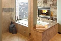 ∆ Fireplaces in the bathroom