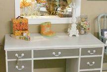 Desk to vanity