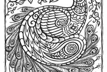 Adult Coloring Books + Pages / I have fallen in love with adult coloring books and pages. On this board, you'll find all of my favorite coloring books and pages  in addition to the supplies you'll need to make it more fun!