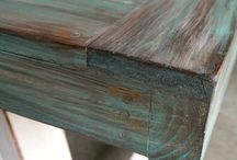 patine turqouse wood