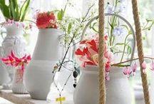 FLORES e CORES / Decoração com vasos e flores