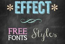 Chalkboard Fonts & Design / by Melissa O'Neill