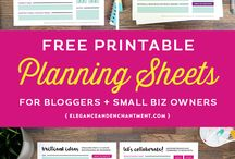 Free Printables for Bloggers / Free printable for bloggers to help make bloggingeasier!