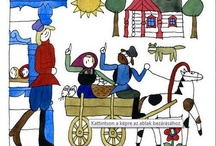 RÉBER LÁSZLÓ - illustration / László Réber (21.05.1920. -02.11.2001) Hungarian graphic artist, illustrator, cartoonist. Exclusive illustrator was of Janikovszky Éva, Lázár Ervin and Gerald Durrell's works.