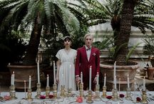 GREENHOUSE ELOPEMENT IN THE BOTANICAL GARDEN IN FLORENCE - www.camillacascino.com / Art direction, planning styling Camilla Cascino  Photography: Days Made Of Love Florals: FluidaDesign Bride's dress: Alessia Baldi Atelier Bride's shoes: Anniel  Accessories: Elibre Groom's suit: Linnèo - Archivable Clothing Groom's shoes: leMastro Make up & hair: Giulia Cresci Wedding rings: My Golden Age Stationery & lasercut: Paper-pow Ribbons: Seidenband Dishes & glassware: Official Rosenthal Cutlery: Sambonet Mixology corner: Bazaar Club Models: Federica Sabatini & Teodoro Giambanco
