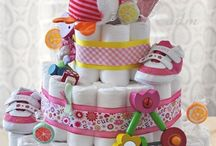 Diaper cakes / by Fiona