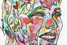 Pintura neo-pop / neo-pop paintings