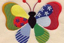 Stitching: Butterflies & Bugs / by Eddi Miglavs