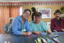 Downey Care Center Arts & Crafts / With Valentine's day on the horizon, we thought what better thing to do than to have an arts and crafts event with some of the local seniors. Not only would we be spending quality time with them, but we would able to share some holiday love.  / by A-1 Home Care, A-1 Domestic Professional Services