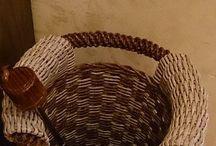 коробки / #бумажныетрубочки#плетение