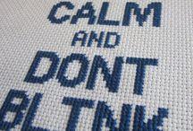 Cross stitch words