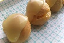 Petit Four con Crema de Naranja y Glaseado de Chocolate Blanco