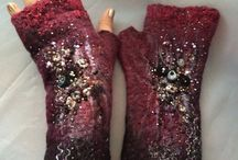 Валяные варежки, митенки, перчатки / #felted_mittens #gloves_felted #mittens_wool #OxanaFelt