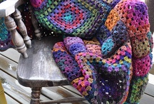 Crochet - blankies / Afghans, security blankets for big and small, lap warmers, doggie dreamers, kitty purrers  / by Tink Bastian