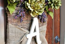wreath with basket