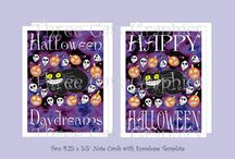 Halloween at Three Cats Graphics' Etsy Shop / Happy Halloween! Here are some items you'll find at Three Cats Graphics' Etsy Shop. If something is sold out I'm happy to recreate it, just ask:)