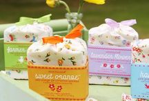 Fabric wrapped soaps