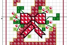 Vyšívání abeceda vánoce