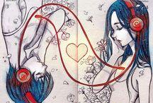 anime, fantasy, paintings
