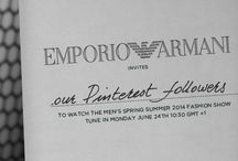 Emporio Armani Spring / Summer 2014 Menswear / by ARMANI