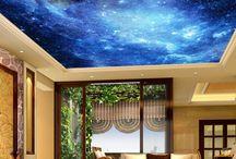 Samanyolu dekorlu tavan