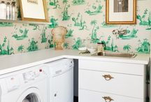 Pretty Laundry Rooms / laundry rooms / by Such Pretty Things (by Jessica Enig)