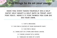 things to do alone ♡
