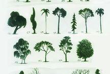 배경 - 나무