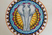 Barbara's Mandala paintings