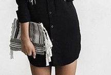 vestido negro abotonado