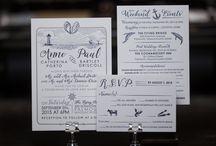Wedding Invitations at Laughing Owl Press / Letterpress printed wedding invitations. Beautiful craft.