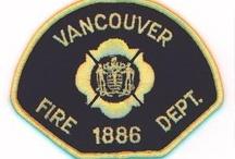 Bomberos / Escudos de bomberos, camiones de bomberos, bomberos...