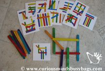 Busy Bag Ideas / Ways to keep my toddler busy during homeschool, church, in the car... / by LaVonne Long