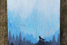 Pintura del lobo
