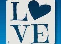 stencil Valentin nap szerelem / Valentin day love
