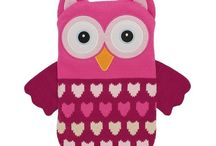Pink Owls Collection / Love owls? Love pink? Check out our pink owls collection of cosy warmers... #pinkowls #owls #pink