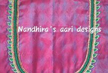 Nandhira's aari embroidery