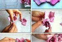 rose di carta o stoffa