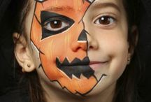 Kids facepainting halloween