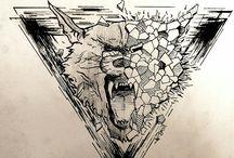 Tattoo Wolf design