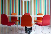 14th Street Apartment | Axis Mundi Design / Stripes for a crime novelist