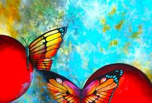 Arte en Mariposas / Pintura acrílica y mixta en lienzo