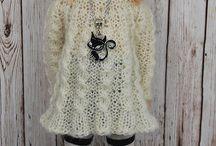 pletené oblečky na panenku