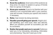 Speaking Series / Quotes and Tips about Public Speaking